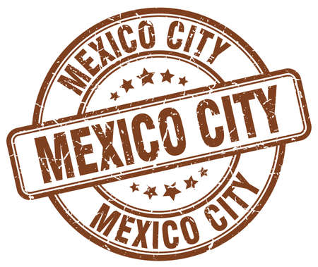 mexico city: Mexico City brown grunge round vintage rubber stamp.Mexico City stamp.Mexico City round stamp.Mexico City grunge stamp.Mexico City.Mexico City vintage stamp. Illustration