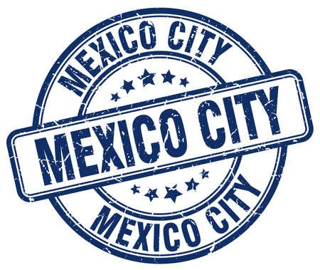 mexico city: Mexico City blue grunge round vintage rubber stamp.Mexico City stamp.Mexico City round stamp.Mexico City grunge stamp.Mexico City.Mexico City vintage stamp. Illustration
