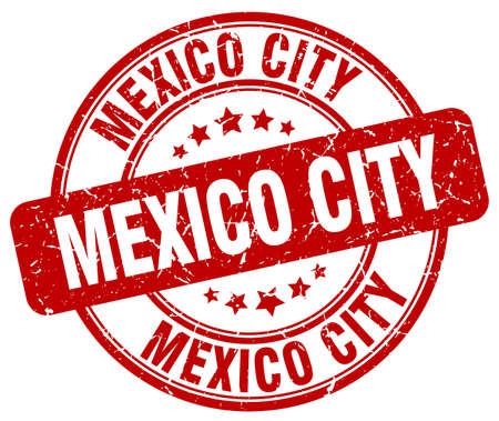 mexico city: Mexico City red grunge round vintage rubber stamp.Mexico City stamp.Mexico City round stamp.Mexico City grunge stamp.Mexico City.Mexico City vintage stamp.
