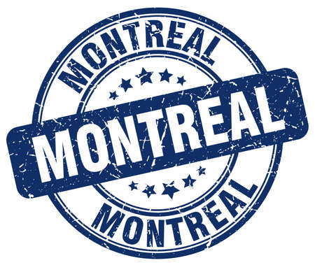 montreal: Montreal blue grunge round vintage rubber stamp.Montreal stamp.Montreal round stamp.Montreal grunge stamp.Montreal.Montreal vintage stamp.