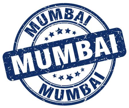 mumbai: Mumbai blue grunge round vintage rubber stamp.Mumbai stamp.Mumbai round stamp.Mumbai grunge stamp.Mumbai.Mumbai vintage stamp. Illustration