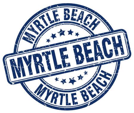myrtle beach: Myrtle Beach blue grunge round vintage rubber stamp.Myrtle Beach stamp.Myrtle Beach round stamp.Myrtle Beach grunge stamp.Myrtle Beach.Myrtle Beach vintage stamp. Illustration