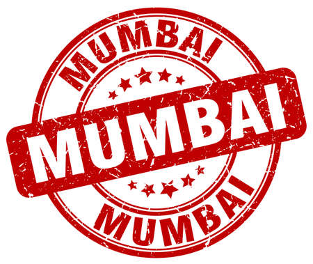 mumbai: Mumbai red grunge round vintage rubber stamp.Mumbai stamp.Mumbai round stamp.Mumbai grunge stamp.Mumbai.Mumbai vintage stamp.