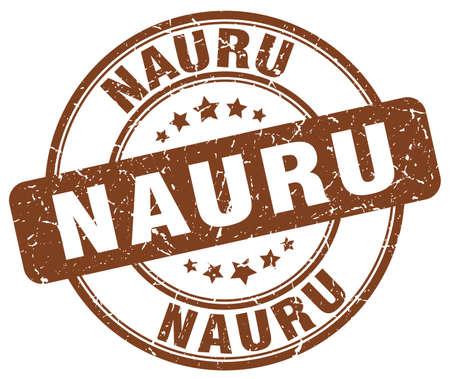 nauru: Nauru brown grunge round vintage rubber stamp.Nauru stamp.Nauru round stamp.Nauru grunge stamp.Nauru.Nauru vintage stamp. Illustration