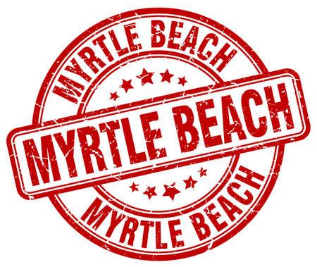 myrtle beach: Myrtle Beach red grunge round vintage rubber stamp.Myrtle Beach stamp.Myrtle Beach round stamp.Myrtle Beach grunge stamp.Myrtle Beach.Myrtle Beach vintage stamp.