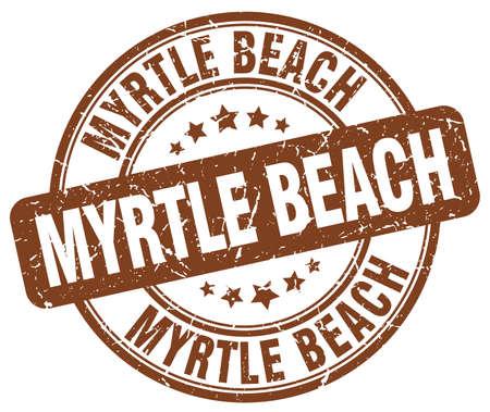 myrtle: Myrtle Beach brown grunge round vintage rubber stamp.Myrtle Beach stamp.Myrtle Beach round stamp.Myrtle Beach grunge stamp.Myrtle Beach.Myrtle Beach vintage stamp.