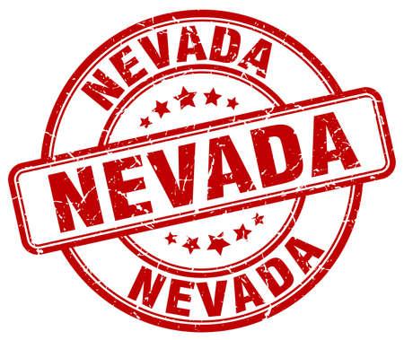 nevada: Nevada red grunge round vintage rubber stamp.Nevada stamp.Nevada round stamp.Nevada grunge stamp.Nevada.Nevada vintage stamp.