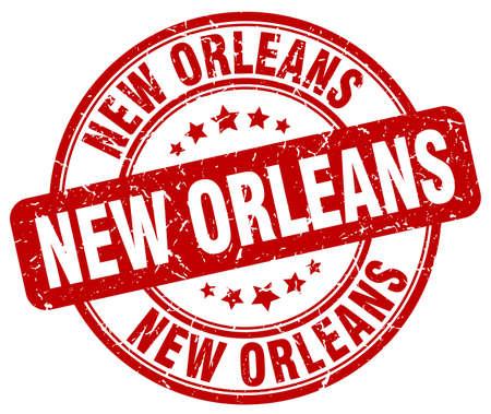new orleans: New Orleans red grunge round vintage rubber stamp.New Orleans stamp.New Orleans round stamp.New Orleans grunge stamp.New Orleans.New Orleans vintage stamp.