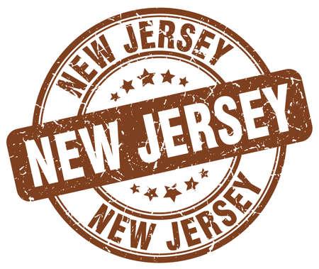 jersey: New Jersey brown grunge round vintage rubber stamp.New Jersey stamp.New Jersey round stamp.New Jersey grunge stamp.New Jersey.New Jersey vintage stamp.