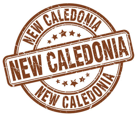 new caledonia: New Caledonia brown grunge round vintage rubber stamp.New Caledonia stamp.New Caledonia round stamp.New Caledonia grunge stamp.New Caledonia.New Caledonia vintage stamp.