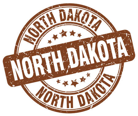 dakota: North Dakota brown grunge round vintage rubber stamp.North Dakota stamp.North Dakota round stamp.North Dakota grunge stamp.North Dakota.North Dakota vintage stamp. Illustration
