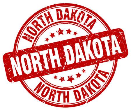 dakota: North Dakota red grunge round vintage rubber stamp.North Dakota stamp.North Dakota round stamp.North Dakota grunge stamp.North Dakota.North Dakota vintage stamp. Illustration