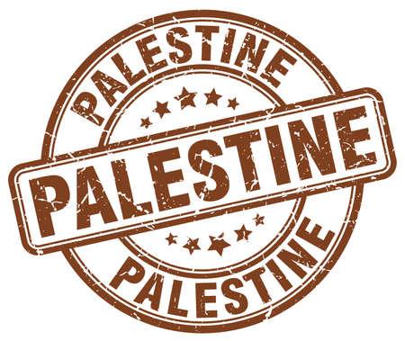 palestine: Palestine brown grunge round vintage rubber stamp.Palestine stamp.Palestine round stamp.Palestine grunge stamp.Palestine.Palestine vintage stamp.