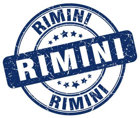 rimini: Rimini blue grunge round vintage rubber stamp.Rimini stamp.Rimini round stamp.Rimini grunge stamp.Rimini.Rimini vintage stamp.