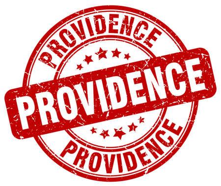 providence: Providence red grunge round vintage rubber stamp.Providence stamp.Providence round stamp.Providence grunge stamp.Providence.Providence vintage stamp. Illustration