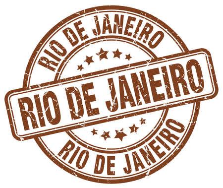 janeiro: Rio De Janeiro brown grunge round vintage rubber stamp.Rio De Janeiro stamp.Rio De Janeiro round stamp.Rio De Janeiro grunge stamp.Rio De Janeiro.Rio De Janeiro vintage stamp. Illustration
