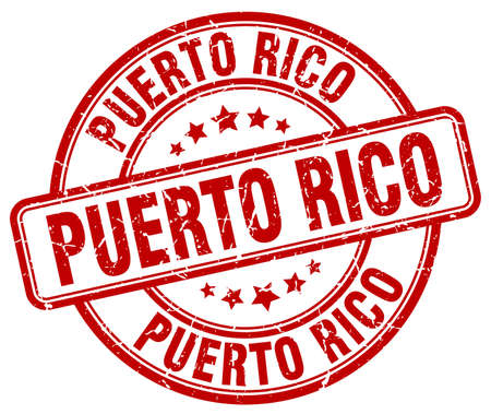 puerto rico: Puerto Rico red grunge round vintage rubber stamp.Puerto Rico stamp.Puerto Rico round stamp.Puerto Rico grunge stamp.Puerto Rico.Puerto Rico vintage stamp. Illustration