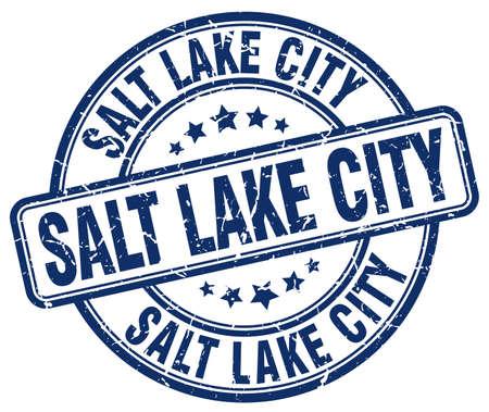 salt lake city: Salt Lake City blue grunge round vintage rubber stamp.Salt Lake City stamp.Salt Lake City round stamp.Salt Lake City grunge stamp.Salt Lake City.Salt Lake City vintage stamp.