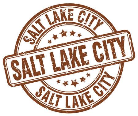 salt lake city: Salt Lake City brown grunge round vintage rubber stamp.Salt Lake City stamp.Salt Lake City round stamp.Salt Lake City grunge stamp.Salt Lake City.Salt Lake City vintage stamp. Illustration