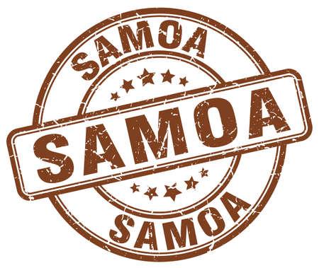 samoa: Samoa brown grunge round vintage rubber stamp.Samoa stamp.Samoa round stamp.Samoa grunge stamp.Samoa.Samoa vintage stamp. Illustration