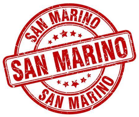 marino: San Marino red grunge round vintage rubber stamp.San Marino stamp.San Marino round stamp.San Marino grunge stamp.San Marino.San Marino vintage stamp. Illustration