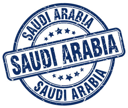arabia: Saudi Arabia blue grunge round vintage rubber stamp.Saudi Arabia stamp.Saudi Arabia round stamp.Saudi Arabia grunge stamp.Saudi Arabia.Saudi Arabia vintage stamp.