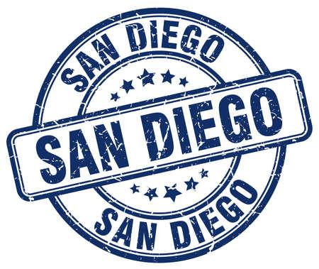 san diego: San Diego blue grunge round vintage rubber stamp.San Diego stamp.San Diego round stamp.San Diego grunge stamp.San Diego.San Diego vintage stamp.