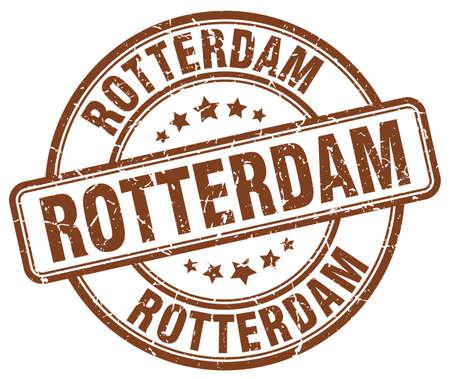rotterdam: Rotterdam brown grunge round vintage rubber stamp.Rotterdam stamp.Rotterdam round stamp.Rotterdam grunge stamp.Rotterdam.Rotterdam vintage stamp.