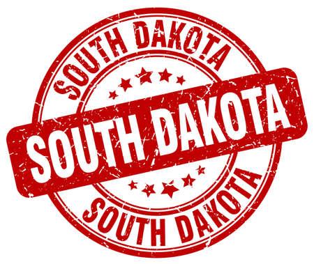 dakota: South Dakota red grunge round vintage rubber stamp.South Dakota stamp.South Dakota round stamp.South Dakota grunge stamp.South Dakota.South Dakota vintage stamp. Illustration