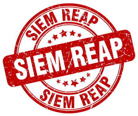 reap: Siem Reap red grunge round vintage rubber stamp.Siem Reap stamp.Siem Reap round stamp.Siem Reap grunge stamp.Siem Reap.Siem Reap vintage stamp. Illustration