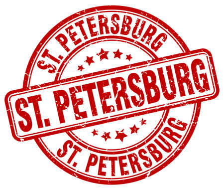 st petersburg: St. Petersburg red grunge round vintage rubber stamp.St. Petersburg stamp.St. Petersburg round stamp.St. Petersburg grunge stamp.St. Petersburg.St. Petersburg vintage stamp. Illustration
