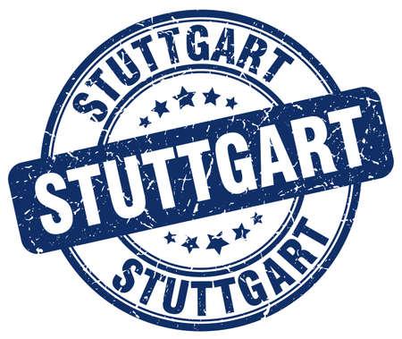 stuttgart: Stuttgart blue grunge round vintage rubber stamp.Stuttgart stamp.Stuttgart round stamp.Stuttgart grunge stamp.Stuttgart.Stuttgart vintage stamp.