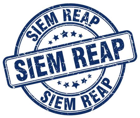 reap: Siem Reap blue grunge round vintage rubber stamp.Siem Reap stamp.Siem Reap round stamp.Siem Reap grunge stamp.Siem Reap.Siem Reap vintage stamp.
