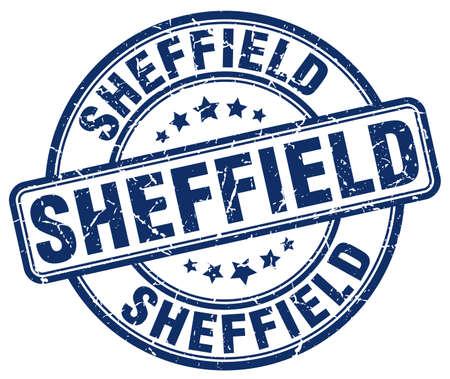 sheffield: Sheffield blue grunge round vintage rubber stamp.Sheffield stamp.Sheffield round stamp.Sheffield grunge stamp.Sheffield.Sheffield vintage stamp.