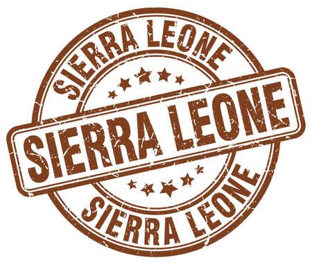 leone: Sierra Leone brown grunge round vintage rubber stamp.Sierra Leone stamp.Sierra Leone round stamp.Sierra Leone grunge stamp.Sierra Leone.Sierra Leone vintage stamp.
