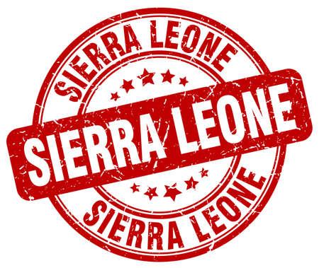leone: Sierra Leone red grunge round vintage rubber stamp.Sierra Leone stamp.Sierra Leone round stamp.Sierra Leone grunge stamp.Sierra Leone.Sierra Leone vintage stamp.