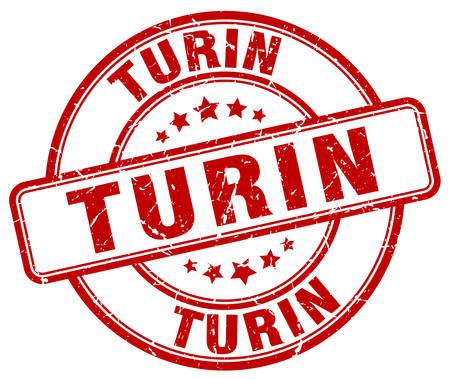 turin: Turin red grunge round vintage rubber stamp.Turin stamp.Turin round stamp.Turin grunge stamp.Turin.Turin vintage stamp.