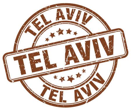aviv: Tel Aviv brown grunge round vintage rubber stamp.Tel Aviv stamp.Tel Aviv round stamp.Tel Aviv grunge stamp.Tel Aviv.Tel Aviv vintage stamp.