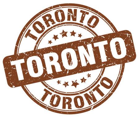 toronto: Toronto brown grunge round vintage rubber stamp.Toronto stamp.Toronto round stamp.Toronto grunge stamp.Toronto.Toronto vintage stamp.