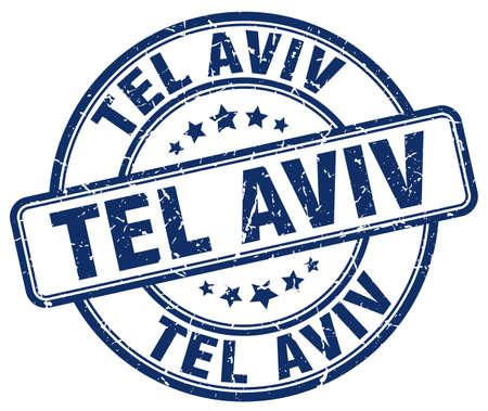 aviv: Tel Aviv blue grunge round vintage rubber stamp.Tel Aviv stamp.Tel Aviv round stamp.Tel Aviv grunge stamp.Tel Aviv.Tel Aviv vintage stamp.