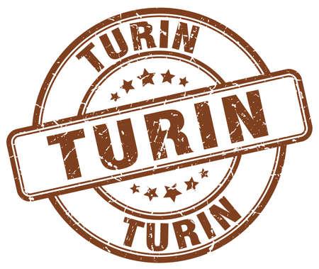 turin: Turin brown grunge round vintage rubber stamp.Turin stamp.Turin round stamp.Turin grunge stamp.Turin.Turin vintage stamp.