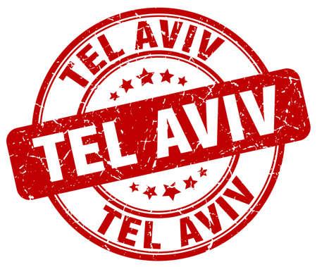 aviv: Tel Aviv red grunge round vintage rubber stamp.Tel Aviv stamp.Tel Aviv round stamp.Tel Aviv grunge stamp.Tel Aviv.Tel Aviv vintage stamp.