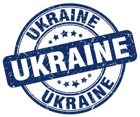 emblem of ukraine: Ukraine blue grunge round vintage rubber stamp.Ukraine stamp.Ukraine round stamp.Ukraine grunge stamp.Ukraine.Ukraine vintage stamp.