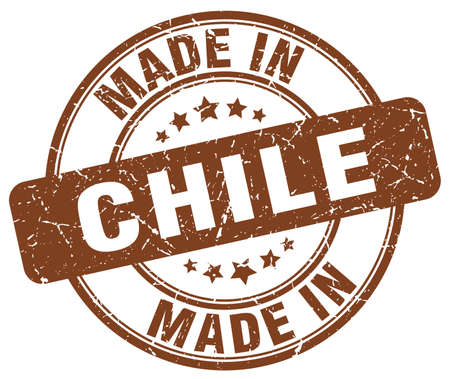 chile: made in Chile brown grunge round stamp Illustration
