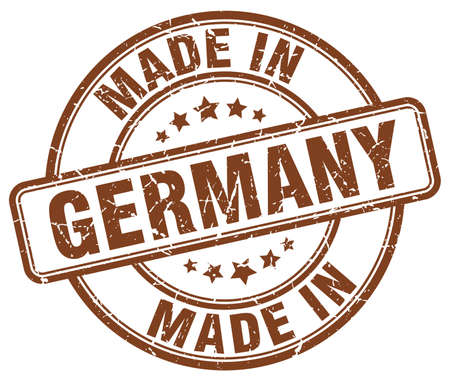 made in germany: made in Germany brown grunge round stamp Illustration