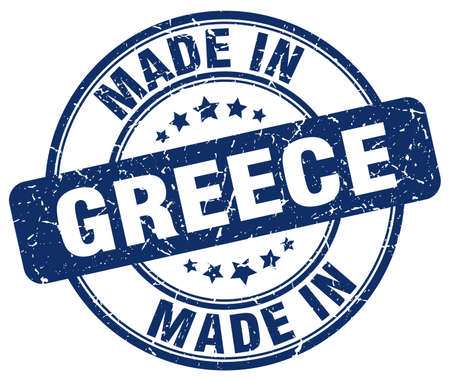 made in greece stamp: made in Greece blue grunge round stamp