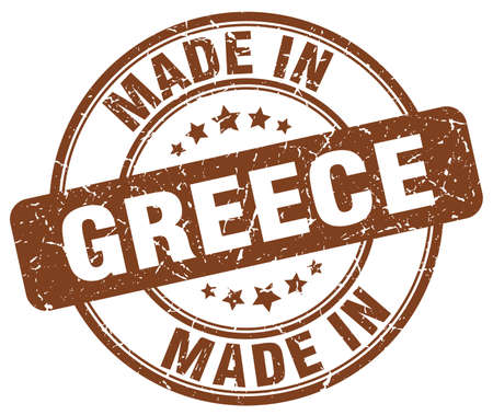 made in greece stamp: made in Greece brown grunge round stamp