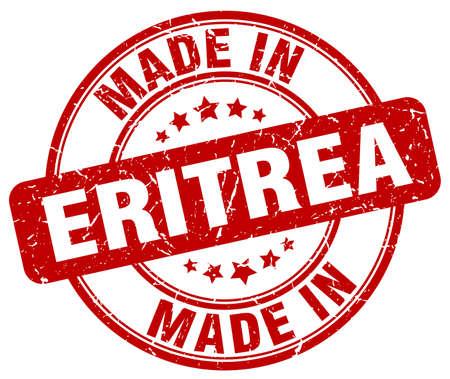 eritrea: made in Eritrea red grunge round stamp Illustration