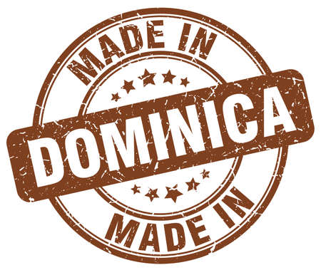dominica: made in Dominica brown grunge round stamp
