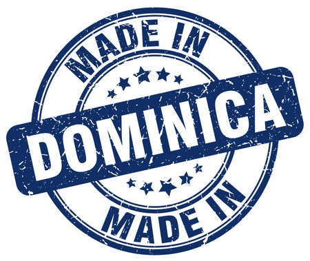 dominica: made in Dominica blue grunge round stamp Illustration